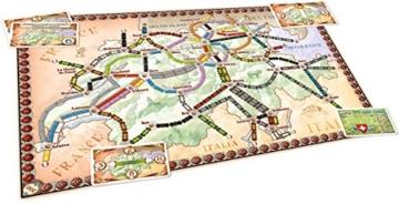 Zug um Zug Spiel Indien Spielbrett