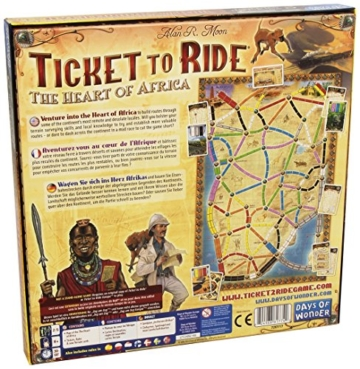 Zug um Zug Spiel Afrika Rückseite